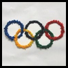 Tissue Paper Olympic Rings Craft