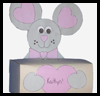 Mouse   Box for Valentine's Cards  : Make Crafts with Tissue Boxes for Children