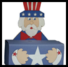 Uncle   Sam Box for Games, Wishes or Candy