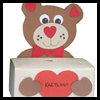 Bear   Box for Valentine's Cards  : Tissue Box Crafts for Kids