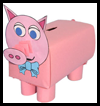 Piggy   Bank Crafts  : Make Crafts with Tissue Boxes for Children