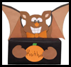 Bat   Box for Halloween  : Tissue Box Crafts for Kids