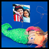 Mermaid   Photo Holders    : Water Bottle Crafts Ideas for Children