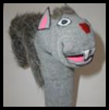 Sock   Puppet Squirrels    : Water Bottle Crafts Ideas for Children