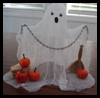 Cheesecloth   Ghosts  : Water Bottle Crafts