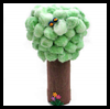 Cotton   Ball Trees  : Water Bottle Crafts