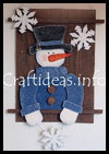 "Snowman   ""Waiting for Winter"" Wall Decoration"