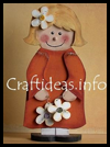 Wooden   Flower Girl