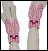 Beaded   Bunny Napkin Rings