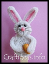 Chenille   Easter Bunny on a Stick