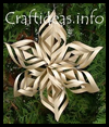 Lacy   Gold Paper Star Tree Ornament