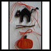 Black   Cat and Pumpkin Chain