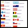 Flags from World Countries Crafts for Children
