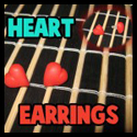How to Make Pretty Earrings or Ear studs Hearts for Valentines Day
