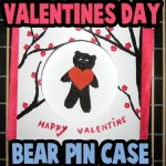 How to make a Valentine Gift Box with a Bear Heart Brooch Pin Case Craft