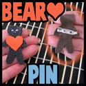 How to make a Valentine Gift Box with a Bear Heart Brooch Pin