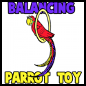 How to Make a Balancing on Your Finger Paper Parrot on a Perch Toy