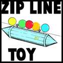 How to Make a Mini Zip Line Moving Toy Crafts Idea for Kids