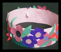 Make Spring Princess or Fairy Flowers Crown Craft for Girls