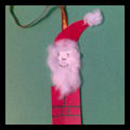 Making Popsicle Stick Santa Clause Christmas Tree Ornaments Craft for Kids
