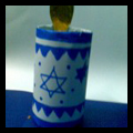 How to Make Hanukkah Decorative Candle Craft for Jewish Kids