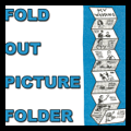 Make Picture Folder Gift Book with Accordion Fold Out Photo Holder