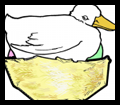 Make an Easter Duck Sitting on Eggs in Nest Card Arts & Crafts for Kids