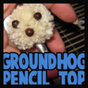 Making a Groundhog Pencil Topper Craft for Groundhogs Day