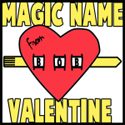 How to Make Magically Appearing Name Valentines Day Cards Craft