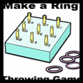 How to Make a Ring Toss Throwing Game with a Box, Clothespins, and Rubber Jar Rings
