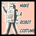 Make a Robot Costume for Halloween with Cardboard Boxes