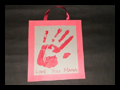 Make Keepsake Hand Print Poster Gift for Mom or Dad