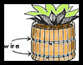 Making a Barrel with Clothespins and Wires
