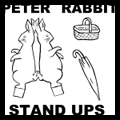 Easter Bunny : Peter Cottontail Rabbit Paper Stand Up Dolls Craft