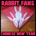 Making Rabbit Chinese New Year Fan Arts and Crafts Project for Kids