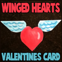 Making Winged Hearts Valentines Day Cards with Paper Folding and Cutting