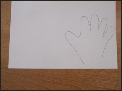 Trace Your Kids Handprints for Easter Bunny Handprints Craft for Kids