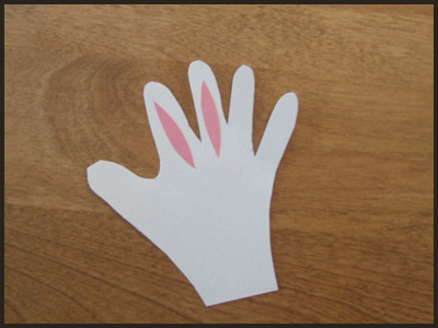 2 Handprints Easter Bunny Craft for Children