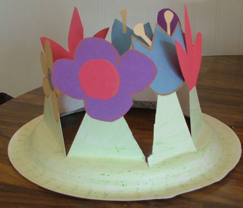 easter-bonnet-step-5 & How to Make a Spring Easter Bonnet Hat or Flower Crown with Your ...