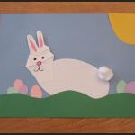 finished-finished handprint easter bunny craft for kids