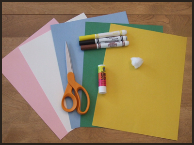 Crafts Supplies to Make Easter Bunny with Ears with Child's Handprints