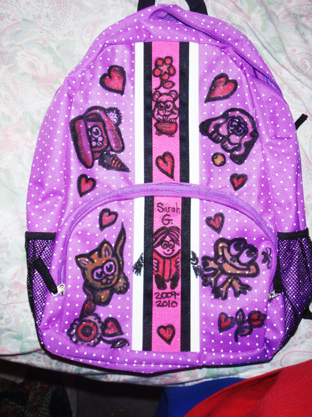 personalize decorate your school book bags backpacks with