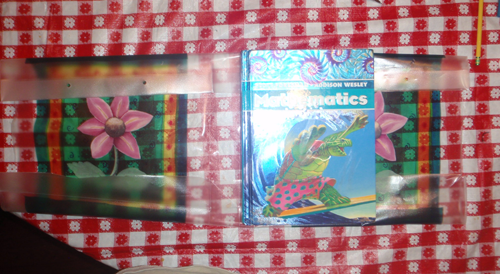 How to Make a School Book Cover Out of a Decorated Gift Bag
