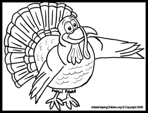 Free Thanksgiving Coloring pages - Turkeys Coloring Page
