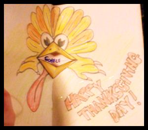 Thanksgiving Pop Up Cards Turkeys Beaks Making Crafts for Kids