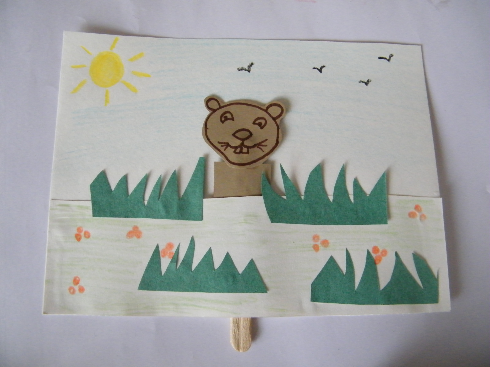 Peeping Groundhogs Craft Activity For Groundhog Day Kids Crafts