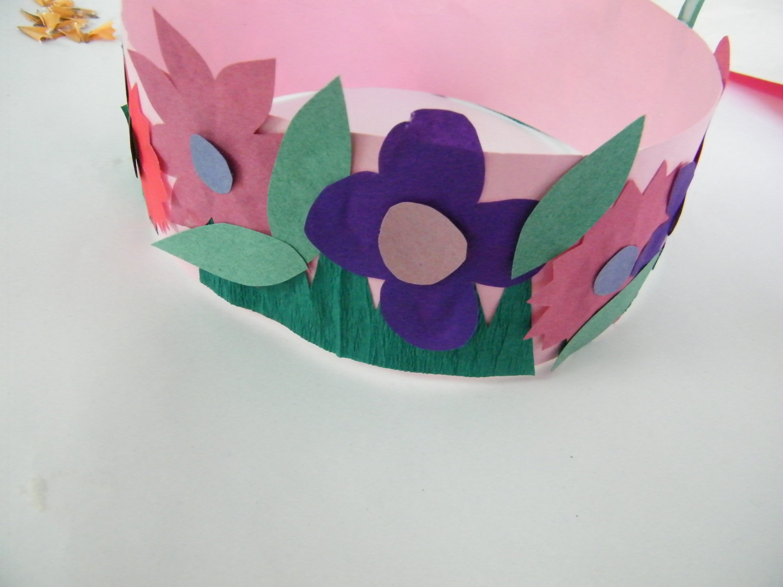 Make spring princess or fairy flowers crown craft for for Art and craft crown