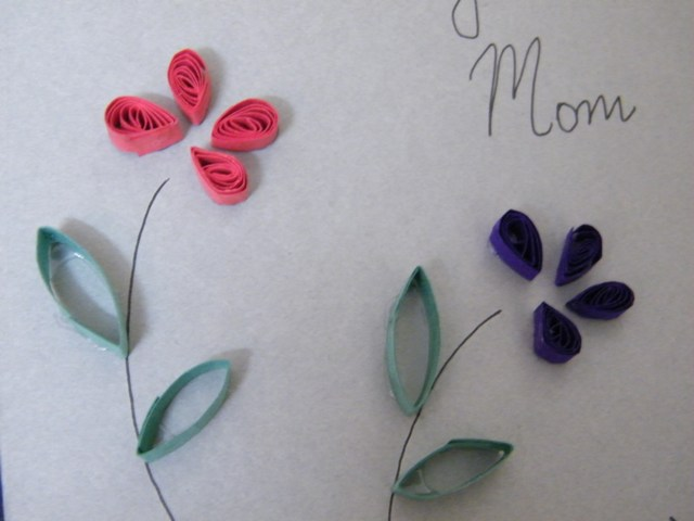 Make Mom A Mother S Day Flower Card Crafts Activity For Kids Kids
