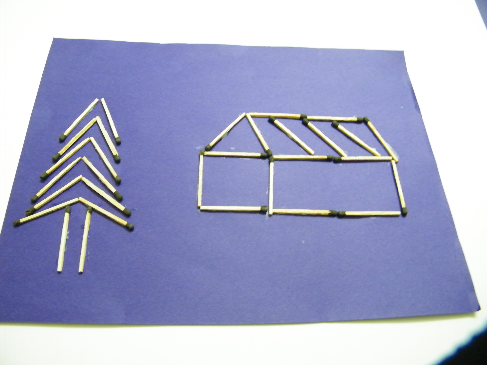 How To Make A Matchstick Picture Kids Crafts Activities Kids