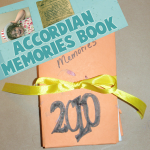 Making a New Years Memory Accordian Pocket Book to Hold Precious Memories